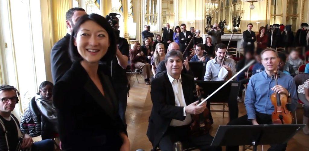 Rencontre entre l'Orchestre de Chambre de Paris, la Ministre et les élèves du XIVème arrondissement