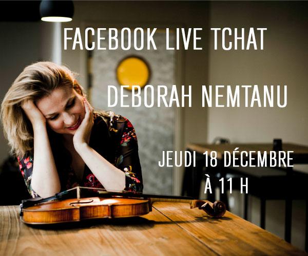Discutez en direct avec Deborah Nemtanu