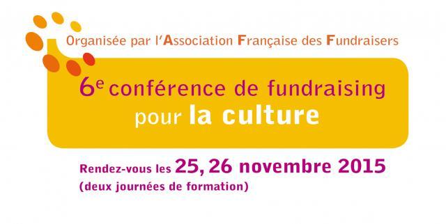 6e conférence de fundraising pour la culture !