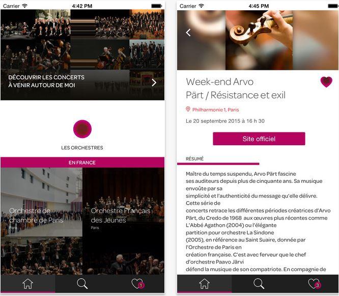 L'agenda des orchestres, l'appli de l'AFO